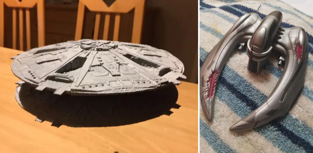 BSG Battlestar Galactica Cylon ships to 3D print
