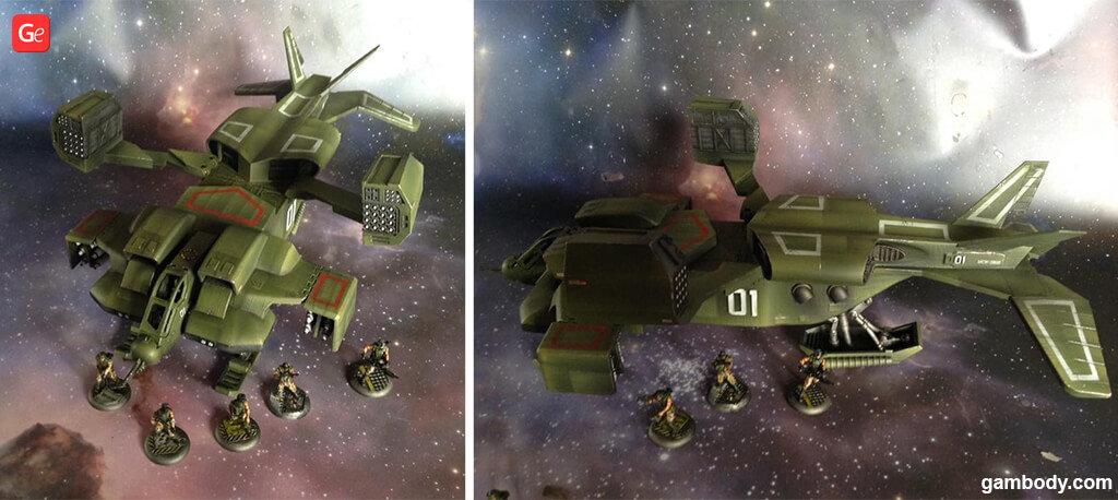 UD-4L Cheyenne dropship model Aliens 3D print