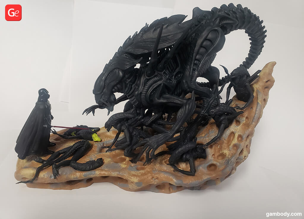 Darth Vader vs Alien Queen 3D print model