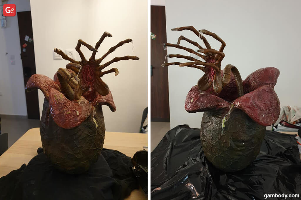 Facehugger in Alien egg STL files to 3D print