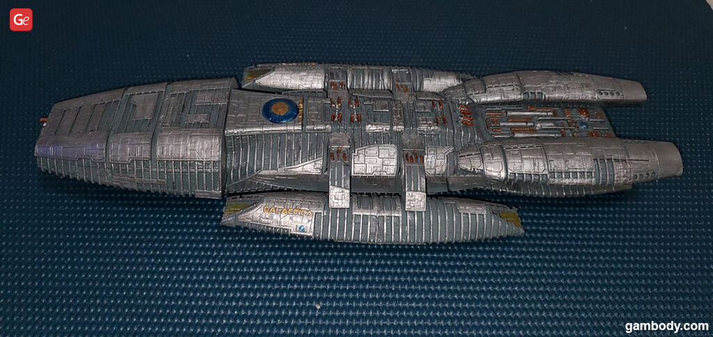 Galactica Battlestar ship model to 3D print