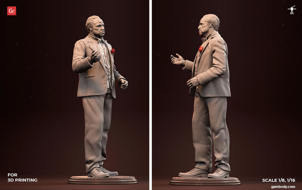 Godfather figure collectables for 3D printing