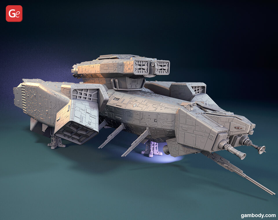 Alien Nostromo ship model to 3D print