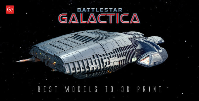 Best Battlestar Galactica Models to 3D Print with STL Files