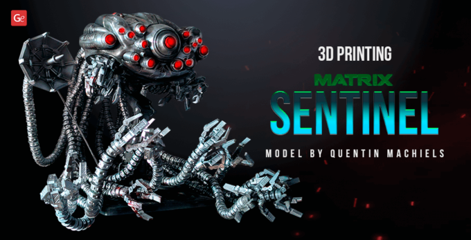 3D Printing Fantastic Matrix Sentinel Model with Flexible Tentacles: Interview with Quentin Machiels