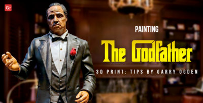 Painting 3D Printed Godfather Don Vito Corleone Figure: Interview with Garry Ogden