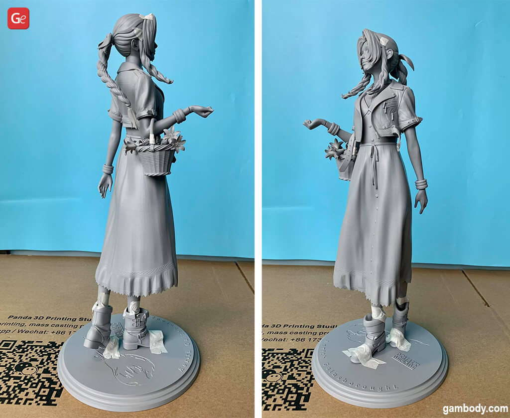 Aerith Gainsborough statue 3D printed