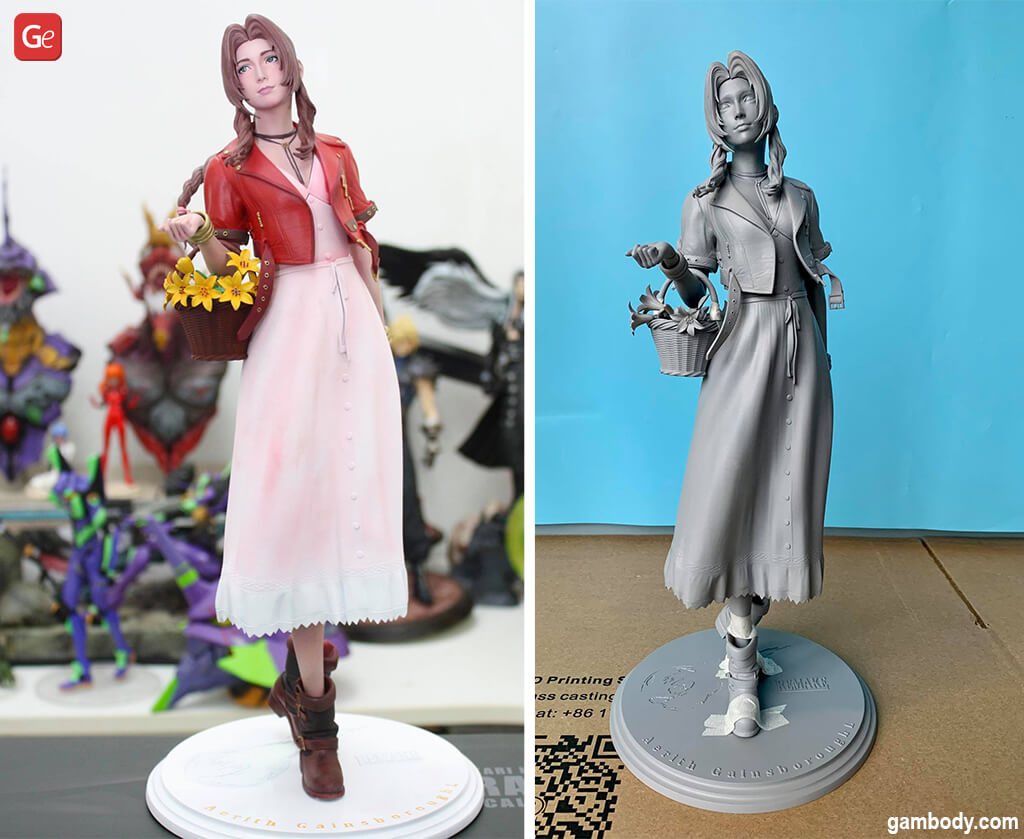 Final Fantasy 7 3D printed figures Aeris