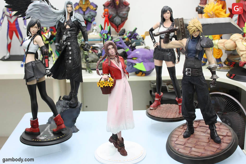 Final Fantasy VII 3D printed figures