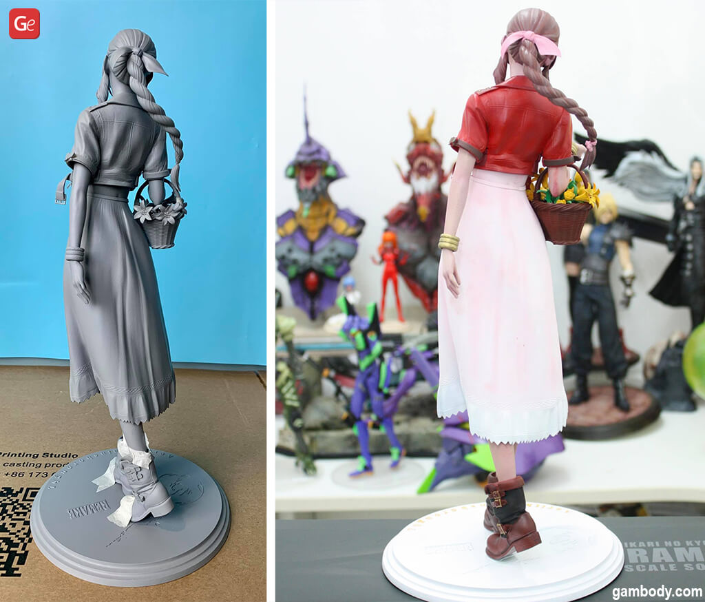 FF7 Aerith statue 3D printed