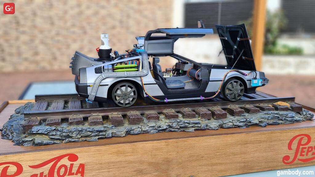 DeLorean 3D model 1/8 scale 3D print