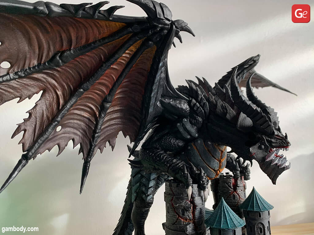 3D print WoW character Deathwing dragon