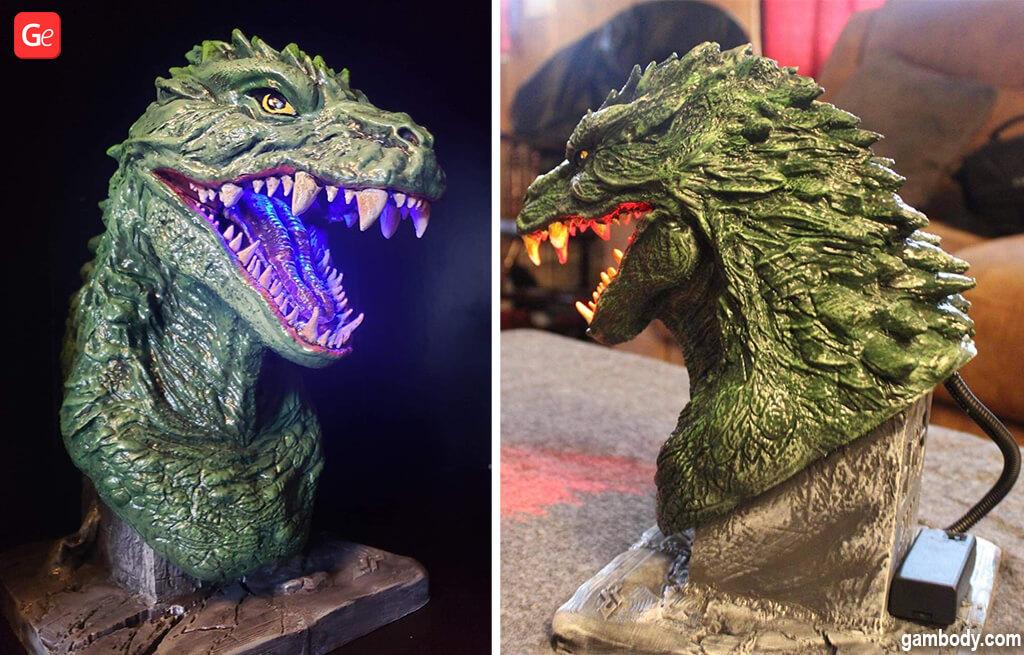 Godzilla bust 3D model