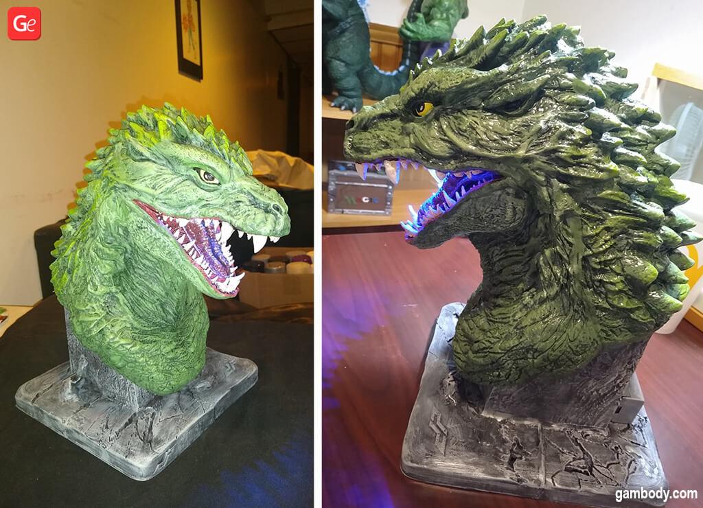 Best 3D printed Godzilla 2000 head