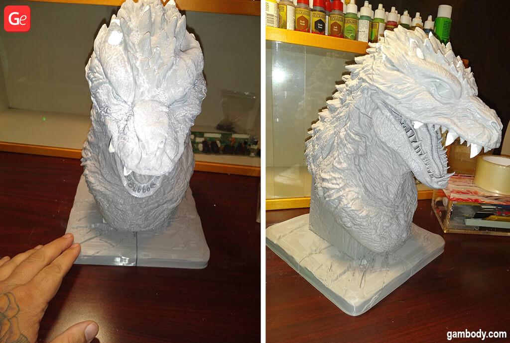 Godzilla bust STL