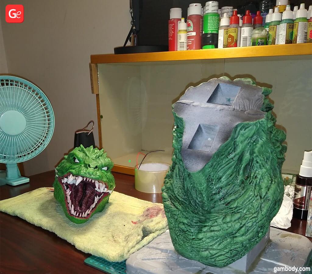 Godzilla bust 3D print