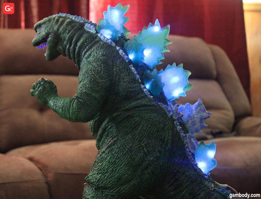 3D printed Godzilla The SoshingekiGoji figure