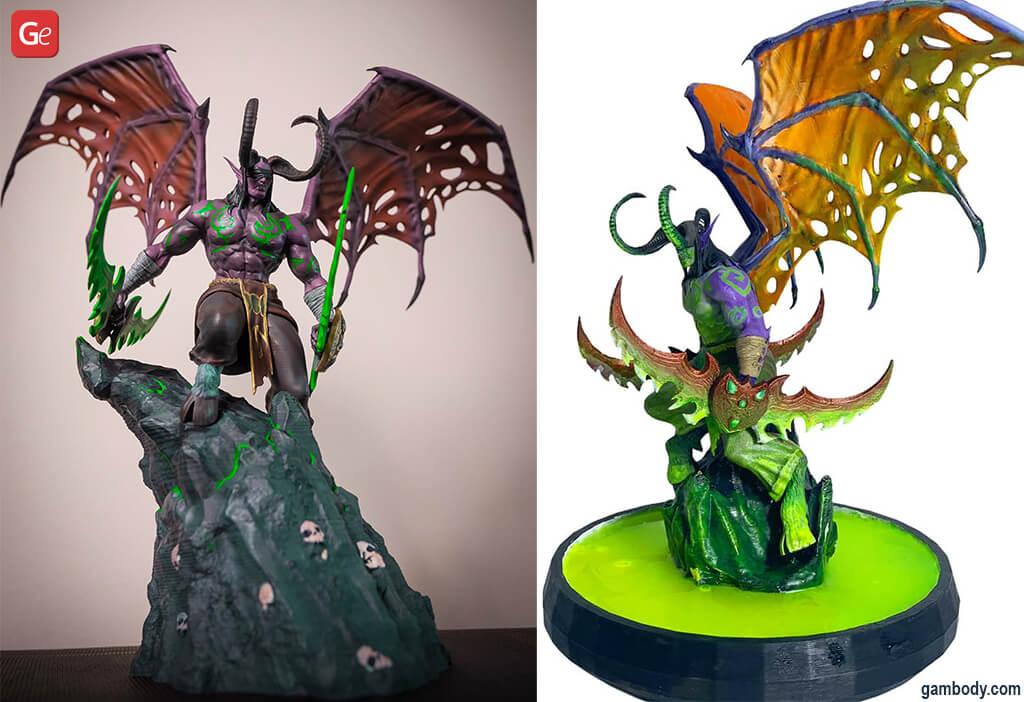3D print WoW character Illidan Stormrage