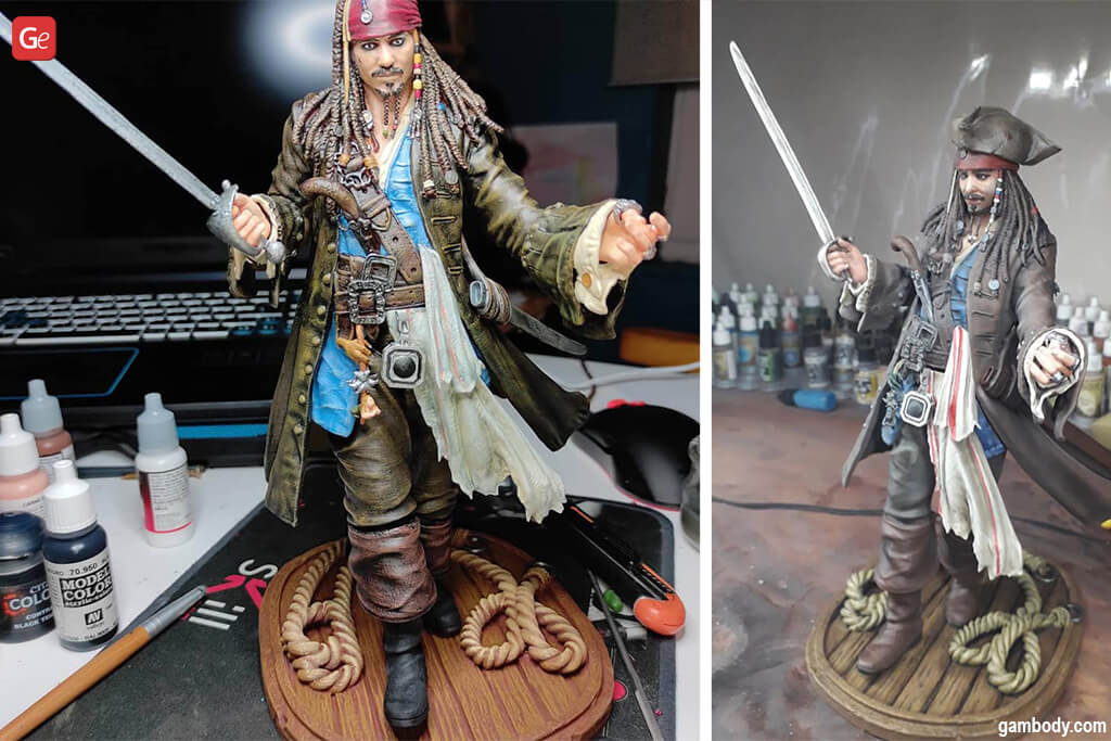 Cool things to 3D print Jack Sparrow