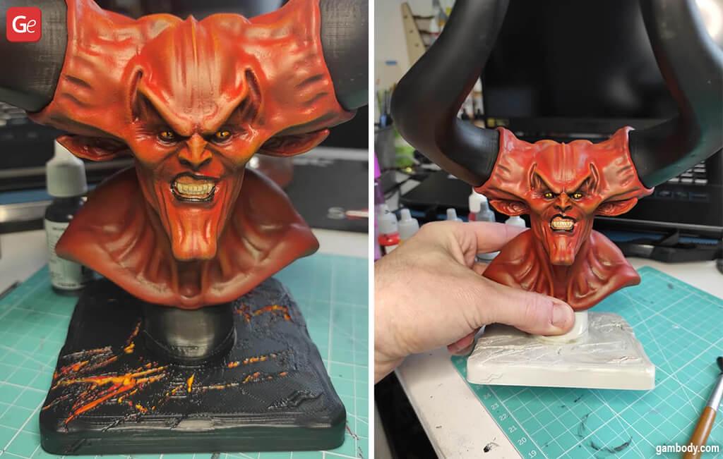 3D print head Lord of Darkness