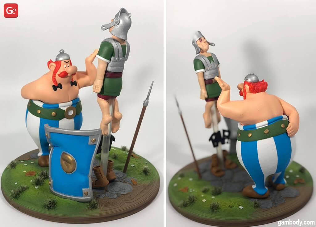 Things to 3D print Obelix vs Roman Legionary