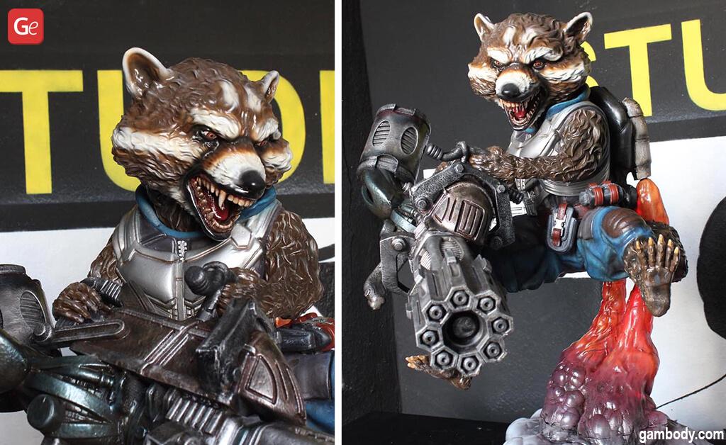 Life-size 3D print ideas Rocket Raccoon statue