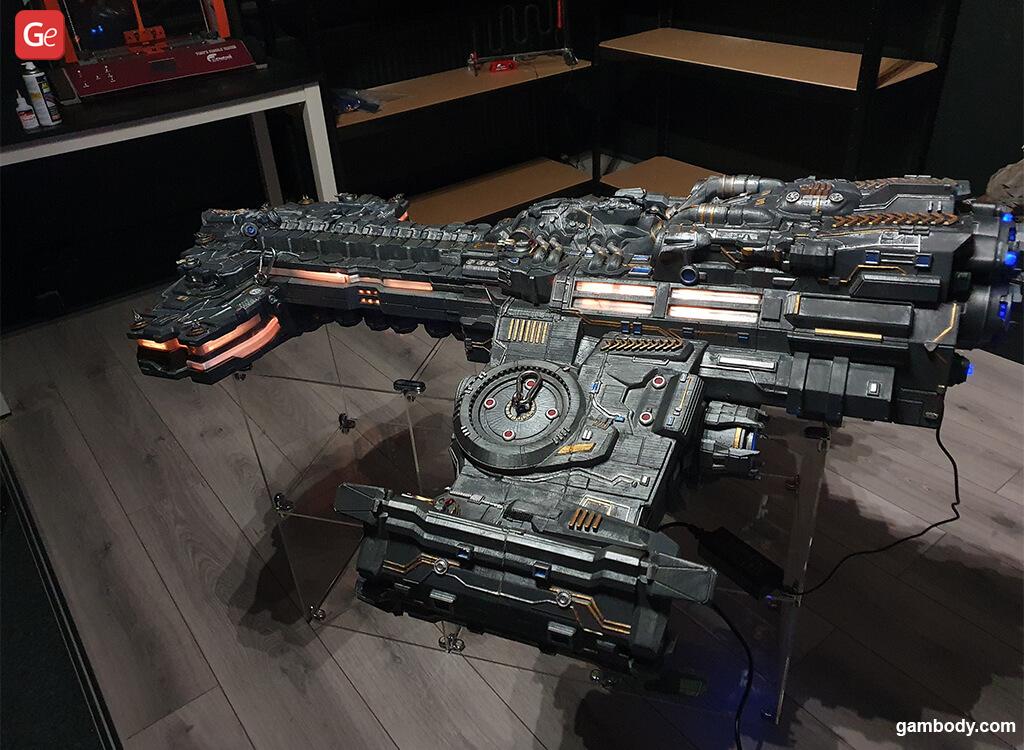 Terran Battlecruiser model learning 3D printing