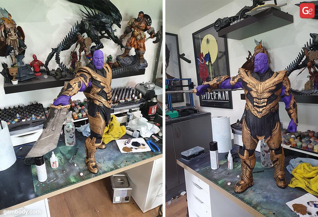 3D printing figurines Thanos