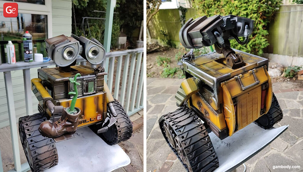 WALL-E robot how to start 3D printing