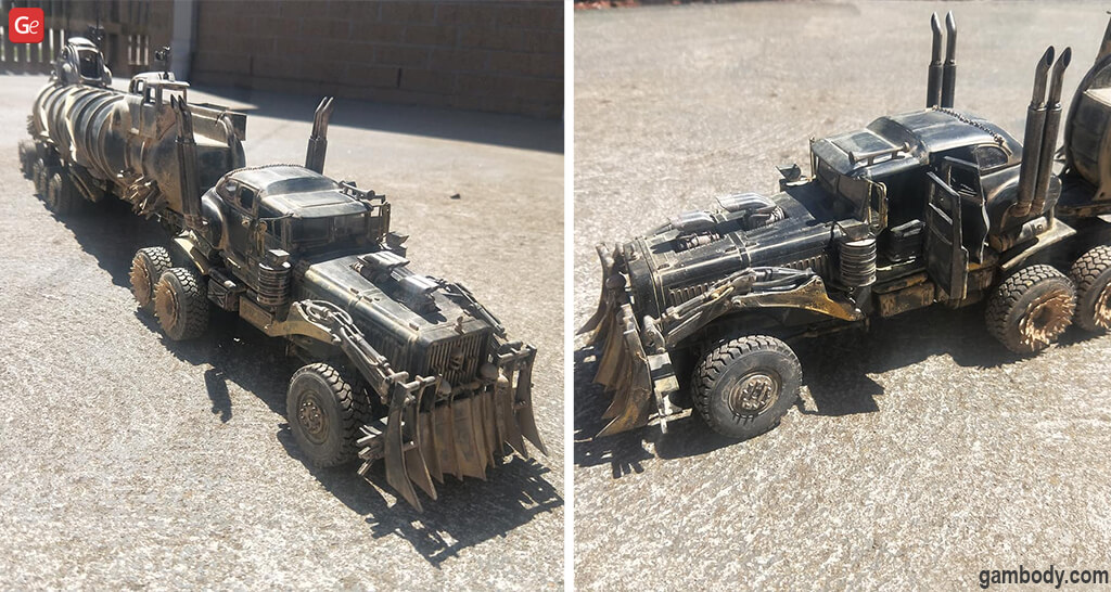 Cool things to 3D print Mad Max Fury Road War Rig Model