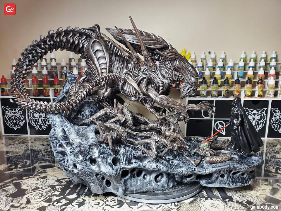 Coolest things to 3D print Xenomorph Queen statue