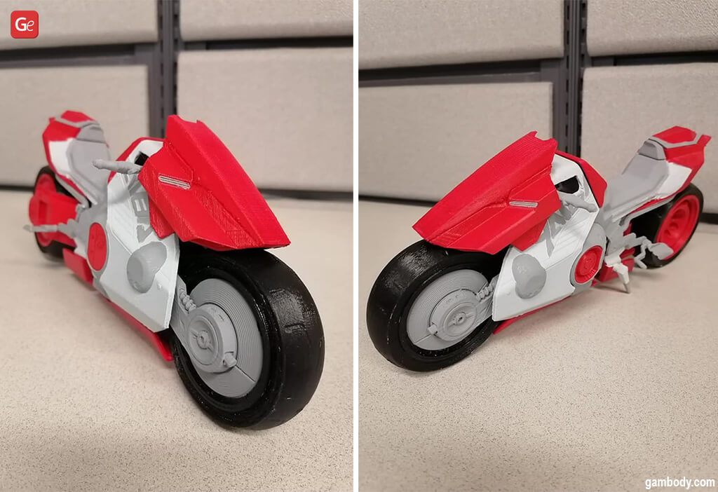 Cool ideas Yaiba Kusanagi CT-3X bike 3D print files