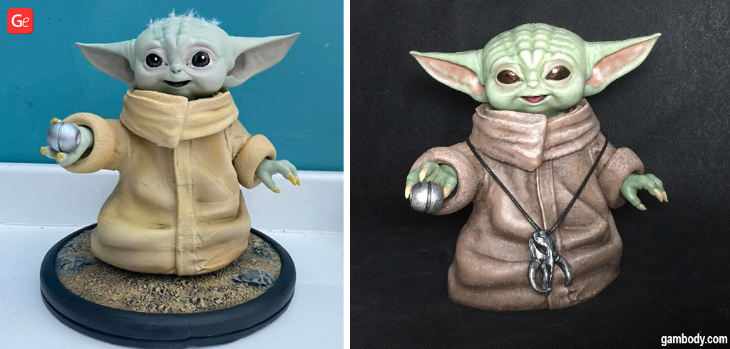 Baby Yoda figure super detailed Star Wars models
