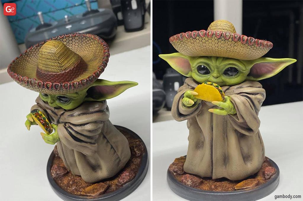 Baby Yoda figurine best Star Wars models to 3D print