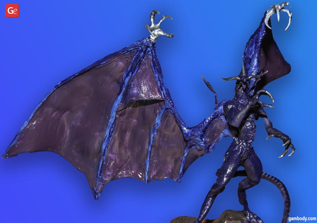 Bahamut Final Fantasy 3D printed dragon figure