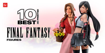 10 Best 3D Printed Final Fantasy Figures: Tifa, Aerith Gainsborough and Others