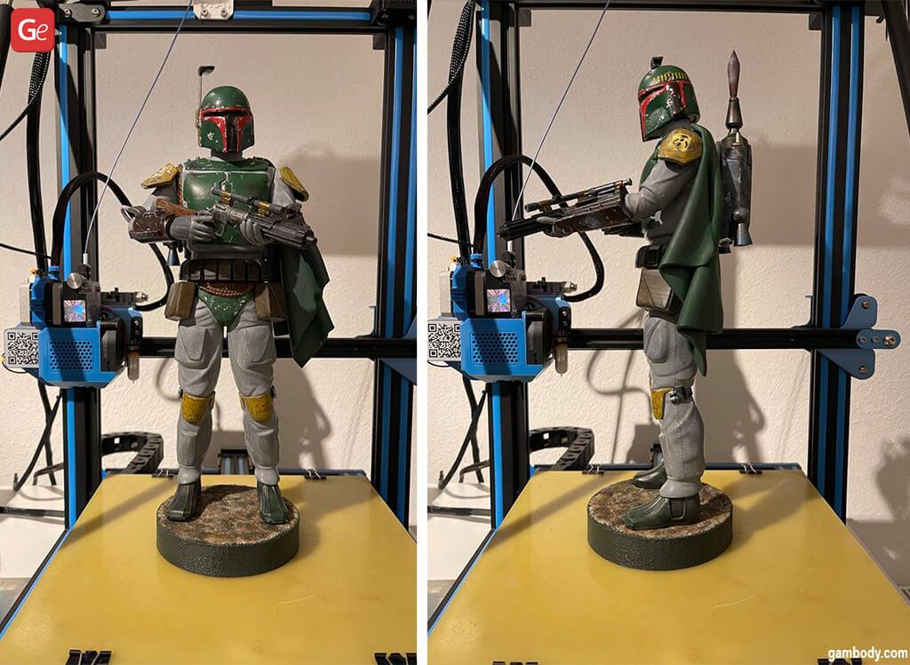 3D printed Boba Fett figure Star Wars models