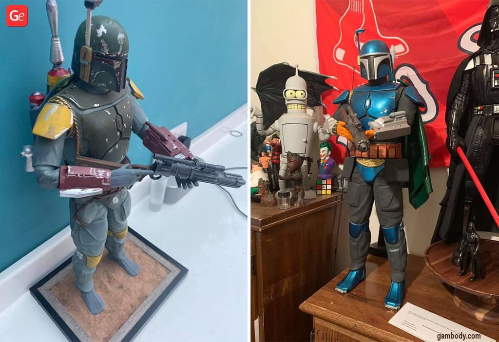 Boba Fett figurine 3D model to print
