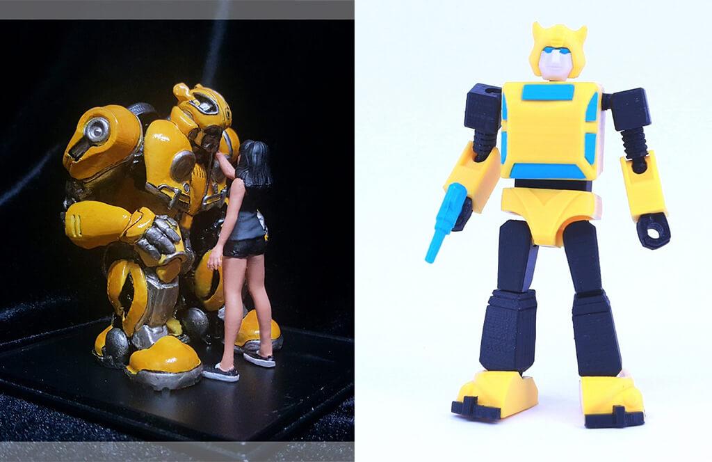 3D printed Transformers Bumblebee model