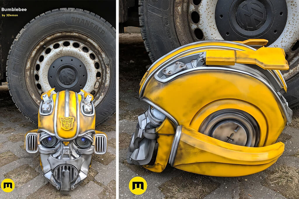 Transformers Bumblebee helmet 3D printed model