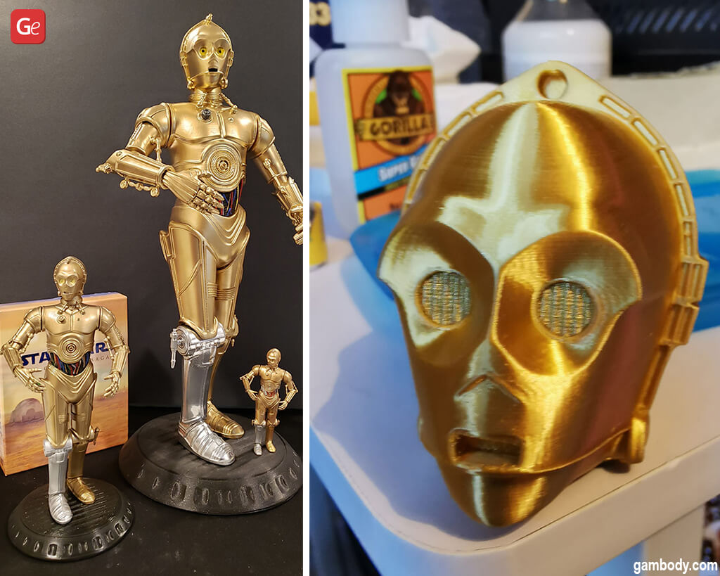 Star Wars C-3PO robot 3D printed models