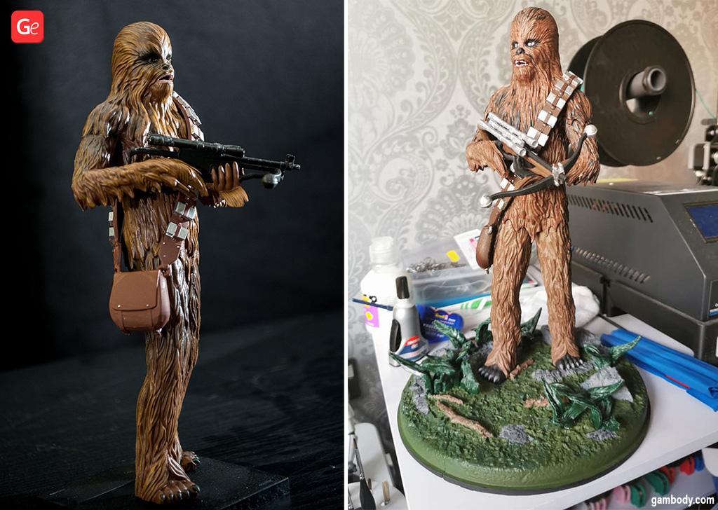 Chewbacca figurine 3D printed