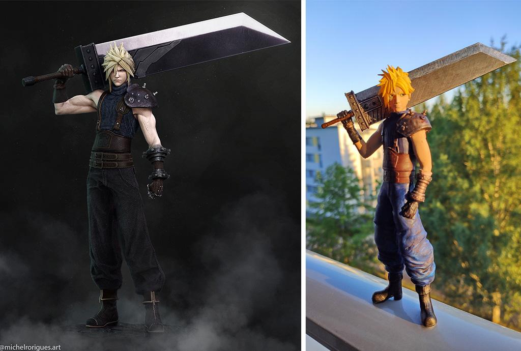 Cloud Strife figure Final Fantasy 3D print