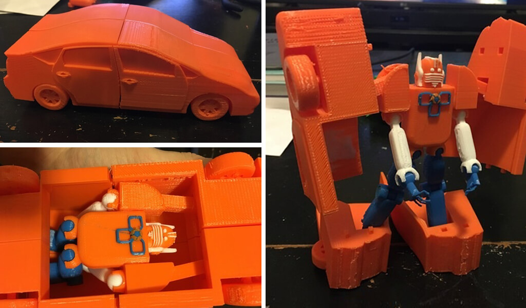 Custom 3D printed Transformers