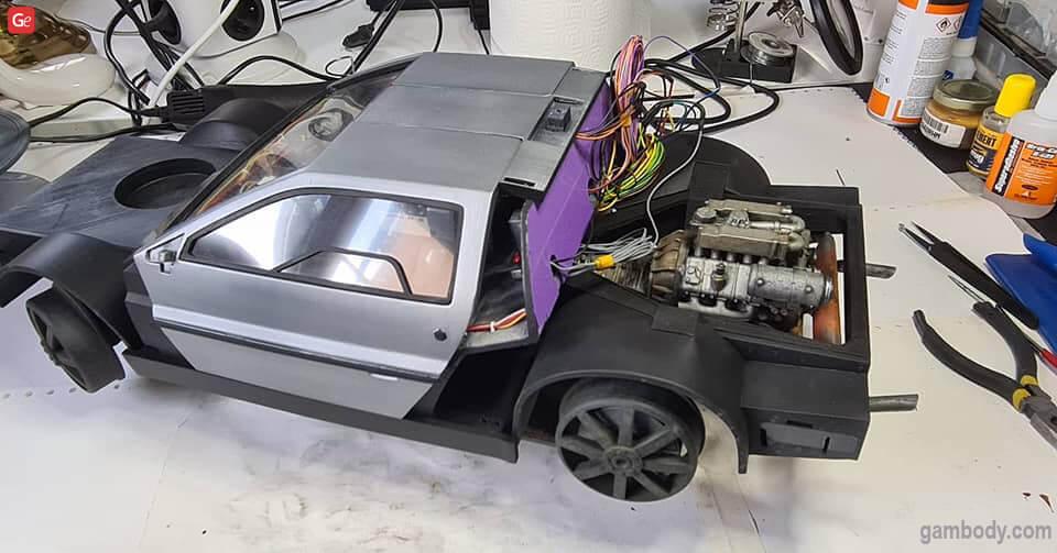 DeLorean time machine 3D printing model