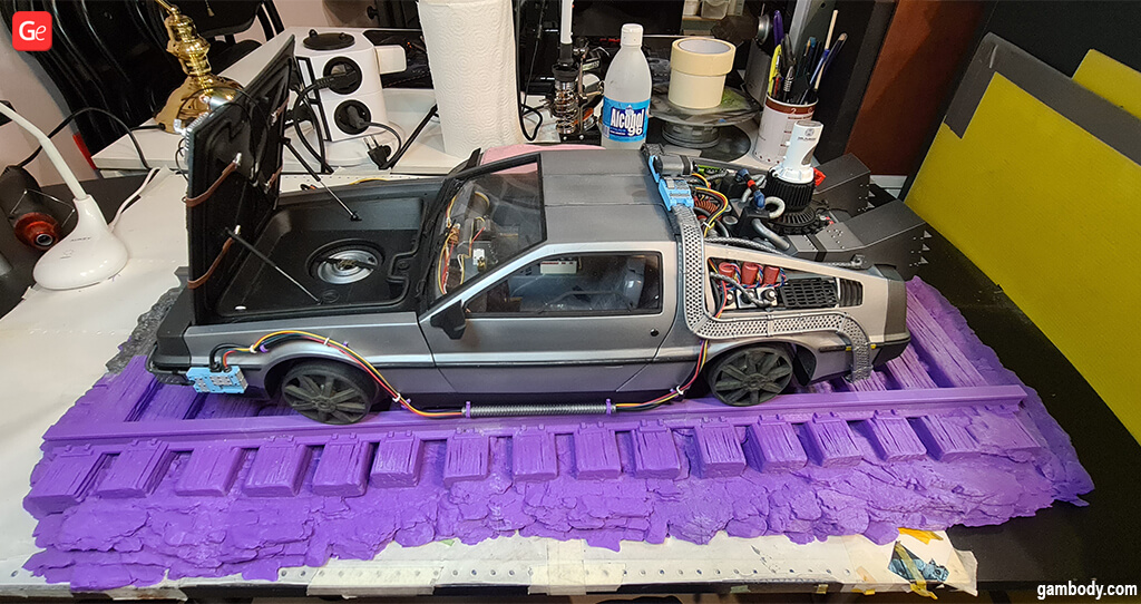 3D printed car DeLorean DMC-12 model by Carlos Diaz