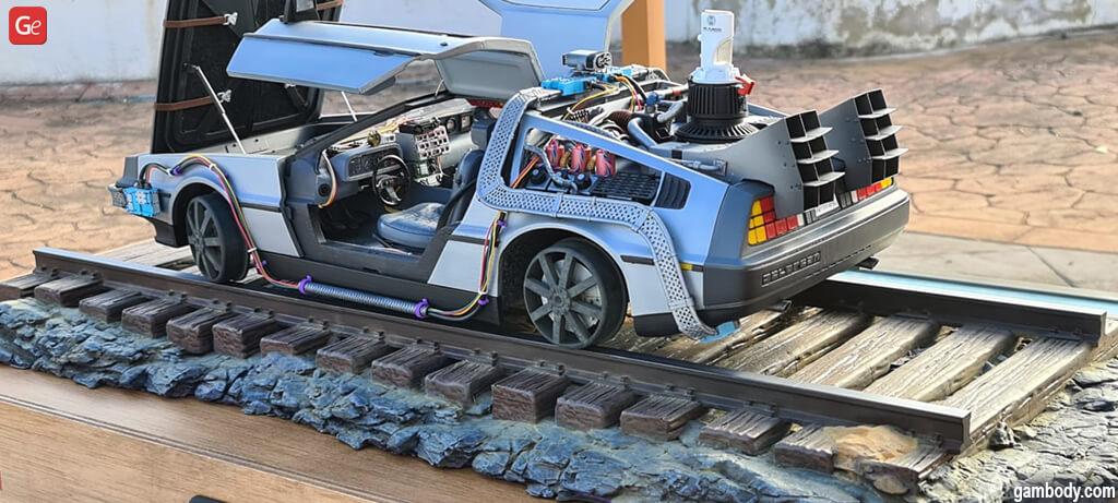 3D printed DeLorean model
