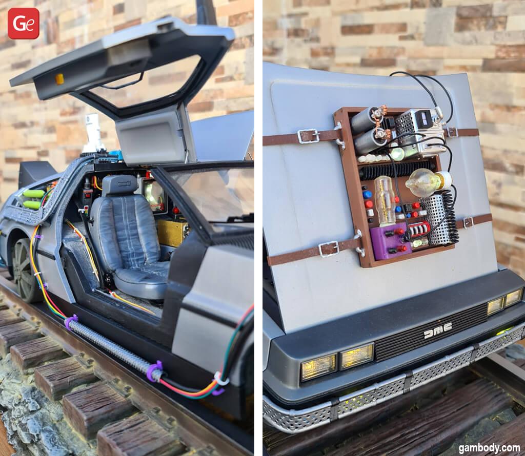 3D printed DeLorean 3D model