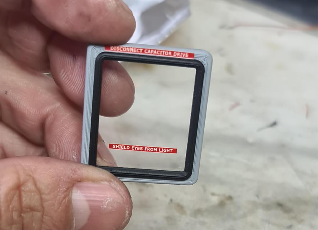 Acetate for DeLorean car 3D printed windows