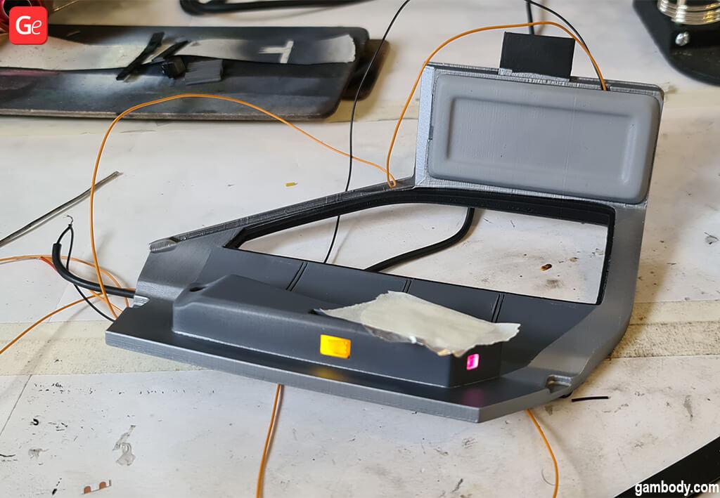 DeLorean model car door 3D print